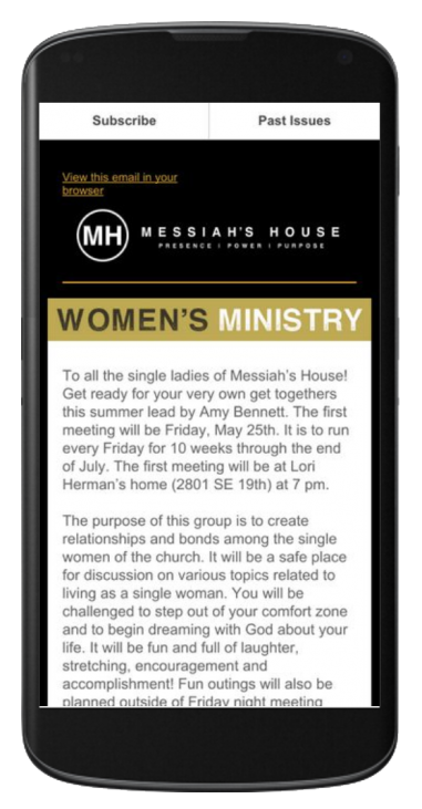 Subscribe to Messiahs House Email