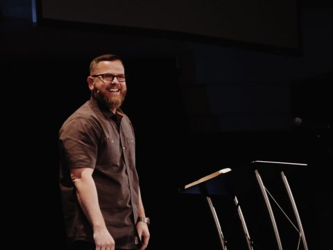 MH Church Senio Pastor Jason Craft Smiles During Message On January 6 2019 about Don't Waste Time